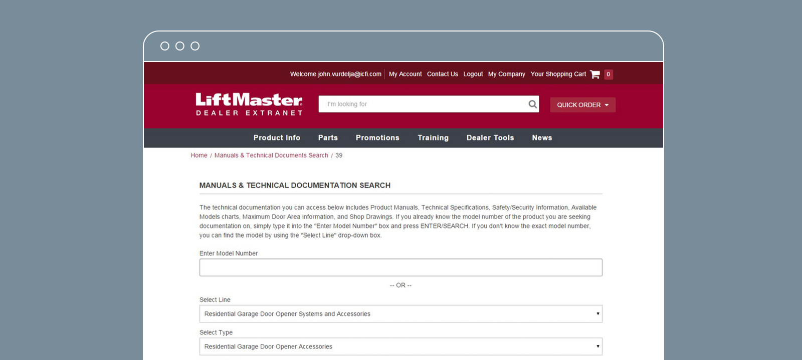 Dealer Portal Document Search