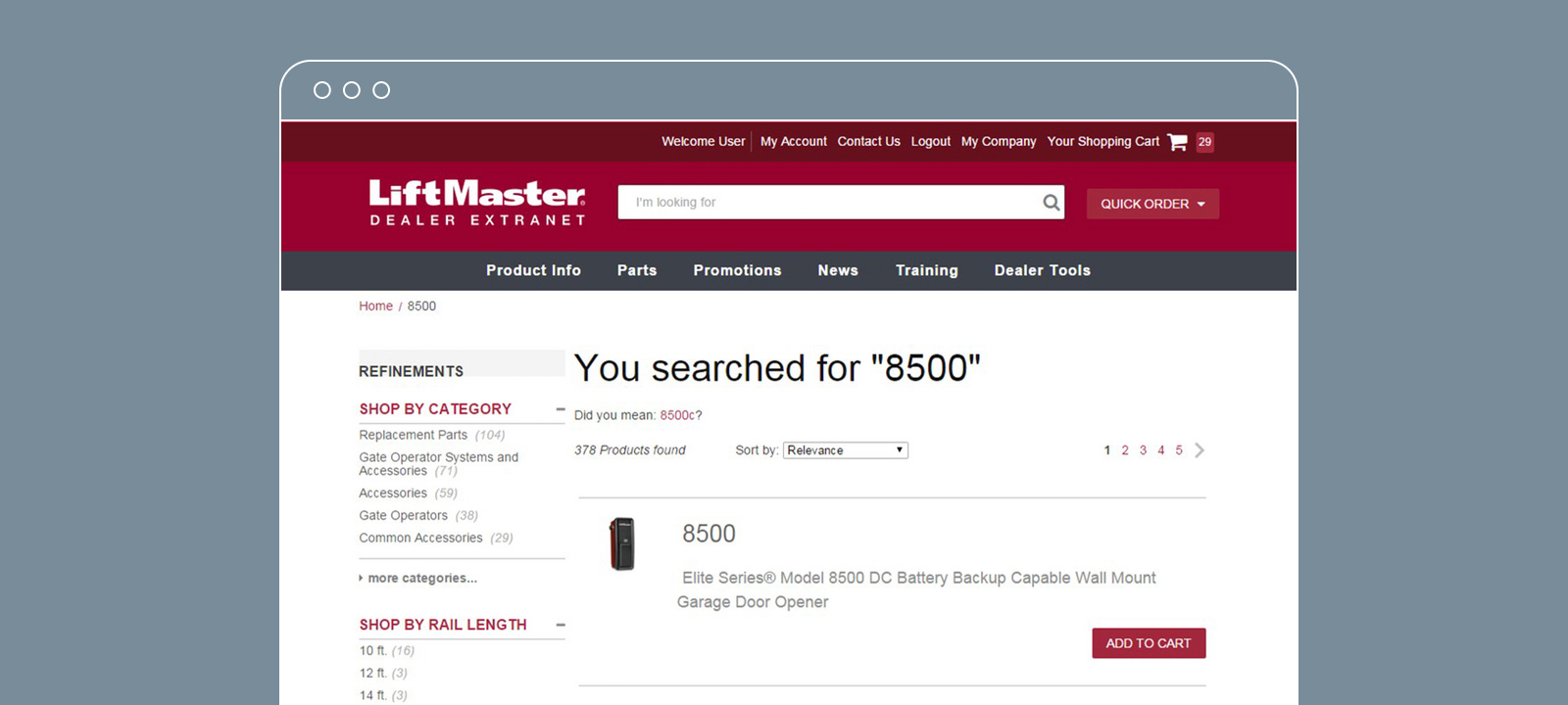 Dealer Portal Search Results